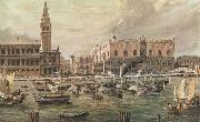 Luigi Querena The Arrival in Venice of Napoleon-s Troops oil painting artist