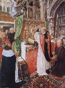 MASTER of Saint Gilles The Mass of Saint Giles oil painting artist
