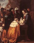MURILLO, Bartolome Esteban Adoration of the Magi oil painting picture wholesale