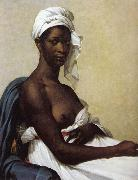 Marie-Guillemine Benoist Portrait of a black woman oil painting artist