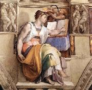 Michelangelo Buonarroti The Erythraean Sibyl oil painting picture wholesale