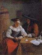 OCHTERVELT, Jacob The Declaration of Love to the Woman Reading oil painting artist