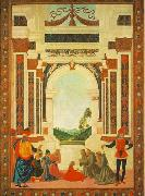 PERUGINO, Pietro The Miracles of San Bernardino-The Healing of a Young oil painting picture wholesale