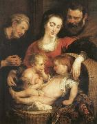 Peter Paul Rubens The Sacred Family with Holy Isabel oil painting picture wholesale