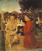Piero della Francesca St Jerome and a Donor oil painting picture wholesale