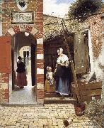 Pieter de Hooch The Courtyard of a House in Delft oil painting picture wholesale