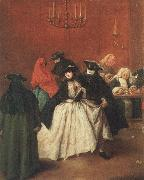 Pietro Longhi Masked venetians in the Ridotto oil painting picture wholesale