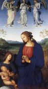 Pietro Perugino The Virgin and Child with an Angel oil painting picture wholesale