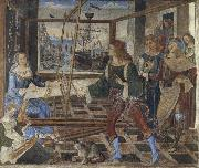 Pinturicchio Penelope at the Loom and Her Suitors oil painting picture wholesale