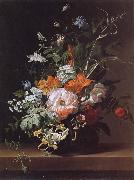 Rachel Ruysch Flowers in a Vase oil painting artist