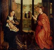 Rogier van der Weyden St Luke Drawing a Portrait of the Virgin oil painting picture wholesale