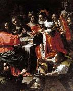 Rutilio Manetti Wedding Feast at Cana oil painting picture wholesale