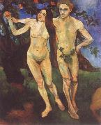 Suzanne Valadon Adam and Eve oil painting artist