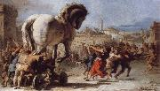 TIEPOLO, Giovanni Domenico The Building of the Trojan Horse The Procession of the Trojan Horse into Troy oil painting picture wholesale