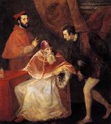 TIZIANO Vecellio Pope Paul III with his Nephews Alessandro and Ottavio Farnese oil painting picture wholesale