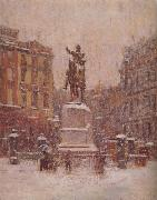 Theodore Robinson Union Square in Winter oil painting picture wholesale