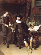 Thomas De Keyser Portrait of Constatijn Huygens and his clerk oil painting artist