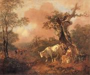 Thomas Gainsborough Landscape with a Woodcutter cowrting a Milkmaid oil painting picture wholesale