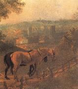 Thomas Gainsborough Detail of Landscape with a Woodcutter courting a Milkmaid oil painting picture wholesale