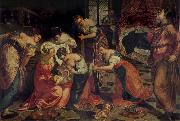 Tintoretto The Birth of St John the Baptist oil painting picture wholesale