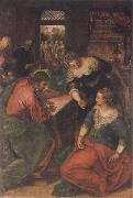 Tintoretto Christ in the House of Mary and Martha oil painting picture wholesale