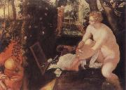 Tintoretto The Bathing Susama oil painting reproduction