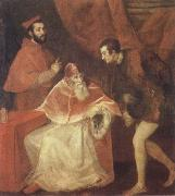 Titian Pope Paul III and his Cousins Alessandro and Ottavio Farneses of Youth oil painting picture wholesale