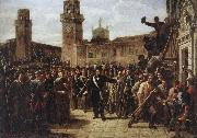 Vincenzo Giacomelli Daniele Manin and the Insurgents Capture the Arsenal oil painting picture wholesale