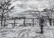 Waldemar Rosler Landscape in lights fields in the winter oil painting picture wholesale