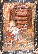 unknow artist The prophet Ezra works Begin the saint documents, from the Codex Amiatinus, Jarrow oil painting picture wholesale