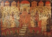 unknow artist The Council of Nicaea i,Melkite icon from the 17 century oil painting picture wholesale