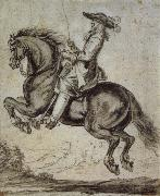 Abraham Jansz Van Diepenbeeck William duke of Newcastle, to horse oil painting