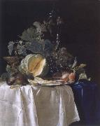 Aelst, Willem van Style life with fruits oil