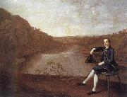 Arthur Devis Philip Howard Seated before a panorama of the river Eden at Corby Castle oil painting picture wholesale