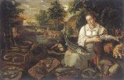 CAMPI, Vincenzo The Fischverkauferin oil painting picture wholesale