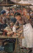Camile Pissarro the butcher woman oil painting picture wholesale