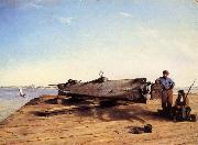 Conrad Wise Chapman Submarine Torpedo Boat H.L.Hunley,Charleston,Dec.3.1863 oil painting picture wholesale