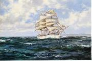 Dennis Miller Bunker Seascape, boats, ships and warships. 09 oil