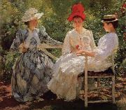 Edmund Charles Tarbell In a Garden oil painting picture wholesale