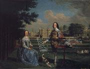 Edward Haytley Sir Roger and Lady Bradshaigh of Haigh Hall,Landscaskire oil painting picture wholesale