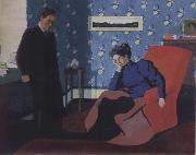 Felix Vallotton Interior with red armchair and figure oil painting picture wholesale