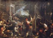 Francesco Bassano the younger The homecoming de lost of son into the father house oil painting picture wholesale