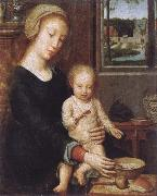 Gerard David Maria with child oil painting artist
