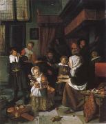 Jan Steen Festival of the St. Nikolaus oil painting picture wholesale