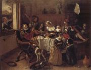 Jan Steen The cheerful family oil painting picture wholesale