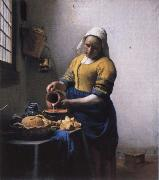 JanVermeer The milk ausgiebende cake lass oil painting picture wholesale