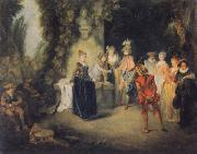 Jean-Antoine Watteau Museum national the Franzosische Komodie oil painting picture wholesale