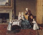 Johann Zoffany The visit in the lord oil painting picture wholesale