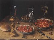 Osias Beert Museum national style life with cherries and strawberries in Chinese china shot els oil painting artist