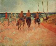Paul Gauguin Horseman at the beach oil painting picture wholesale
